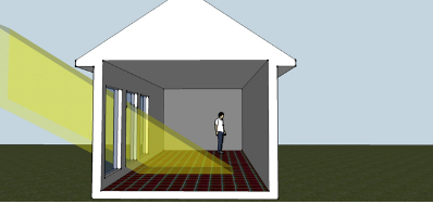 Energía solar pasiva de ganancia directa