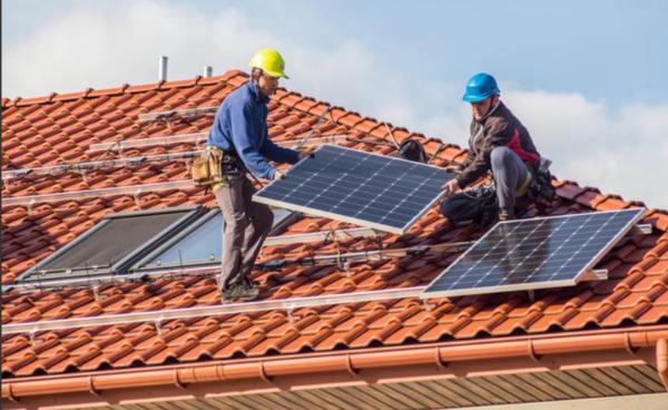 fijacion de paneles solares al techo